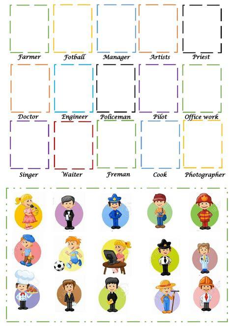profesiones en espanol worksheet  printables worksheet