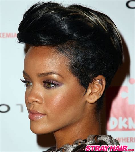 Rihanna Hairstyles by Rihannas Many Great Hairstyles Strayhair