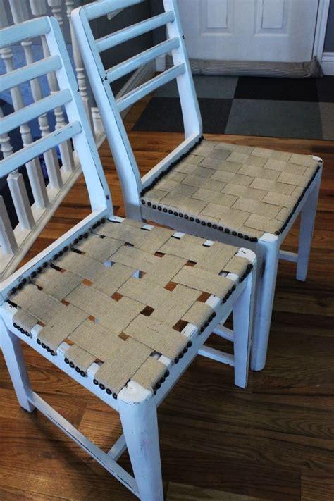 chair diy jute chair seat give an chair new purpose Diy