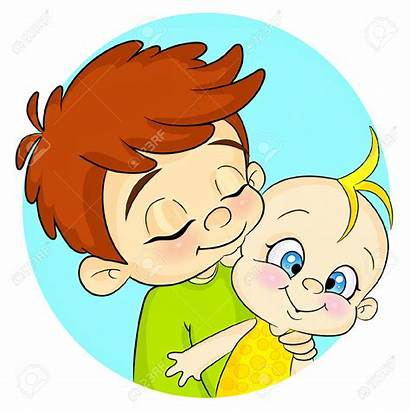 Brother Sister Cartoon Brothers Clipart Loving Siblings