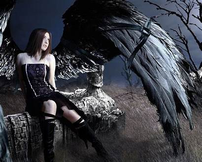 Gothic Dark Angel Angels Wallpapers Emo Goth