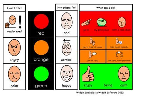 traffic light emotions widgit teaching resources