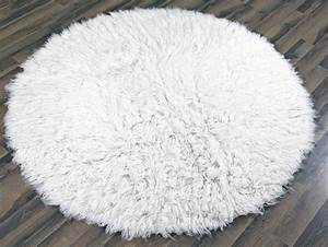 Round white fluffy rug best decor things for Fluffy rugs