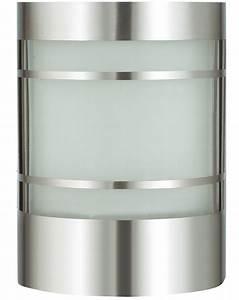 Außenleuchte Edelstahl Led : wand au enleuchte edelstahl und glas inkl led ~ Watch28wear.com Haus und Dekorationen