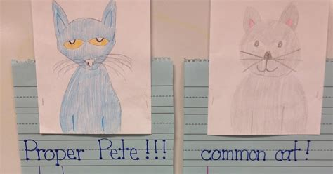 First Grade Fingerprints Nouns With Proper Pete And Common Cat
