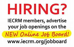 IECRM Now Offers an Automated Online Job Board - IECRM ...