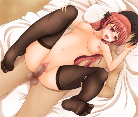 Rule 34 Bed Blush Breasts Brown Hair Censored Copyright