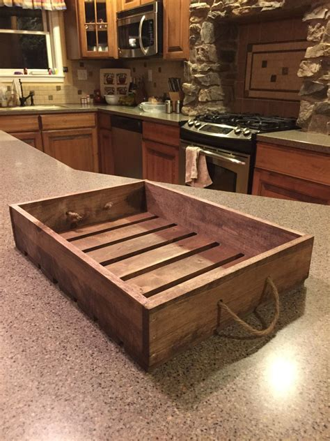 antique style wooden serving tray  darlastudio  etsy