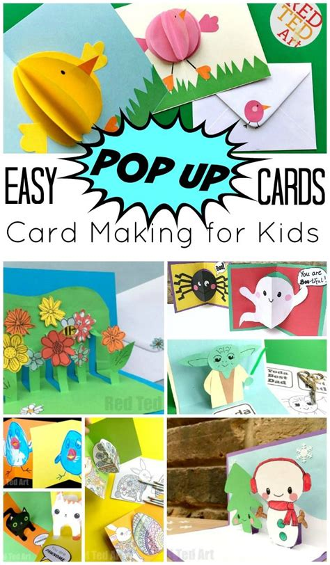 get well soon pop up card template easy pop up card how to projects kid stuff pop up