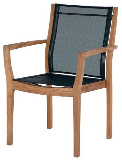 barlow tyrie horizon teak stacking dining armchair