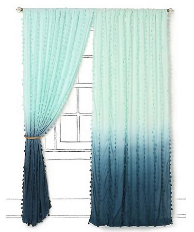 blue ombre curtains diy ombr 233 curtain panels escape from bk