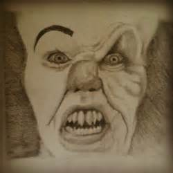 Pennywise Clown Drawing in Pencil