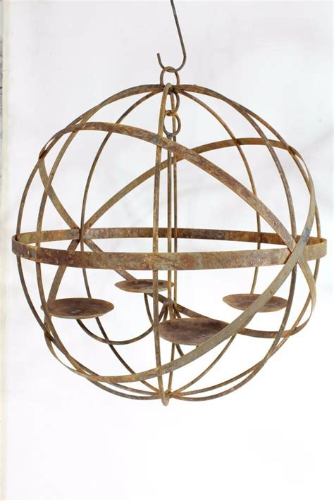 Outdoor Candle Chandeliers Wrought Iron by Wrought Iron Lg 20 Quot Mystic Sphere Candle Chandelier