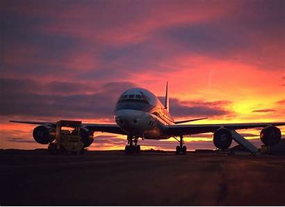 Airplane Sunset Background Backgrounds Plane Aviation Jet
