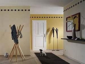 Wandgestaltung Mit Roter Farbe Raum Und Mbeldesign