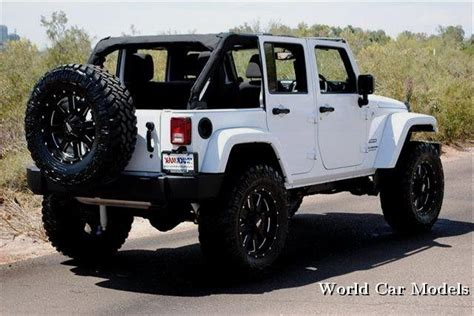 new jeep white lifted white jeep wrangler unlimited world car models