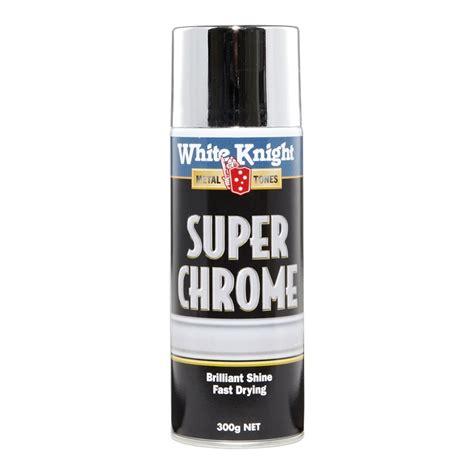 White Knight 300g Super Chrome Spray Paint Bunnings