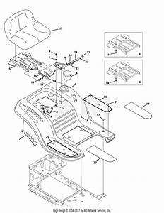 Mtd 13w277ss031 Lt 4200  2015  Parts Diagram For Seat  U0026 Fender