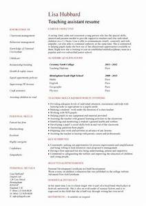 student entry level teaching assistant resume template With entry level teacher resume