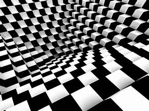 Wall mural wallpaper chess pattern 3D effect photo 360 cm