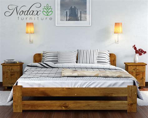 17413 king slatted bed frame brand new solid pine 5ft king size bed frame slats