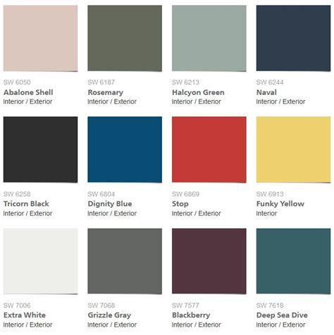 sherwin williams west elm fall winter 2016 paint palette