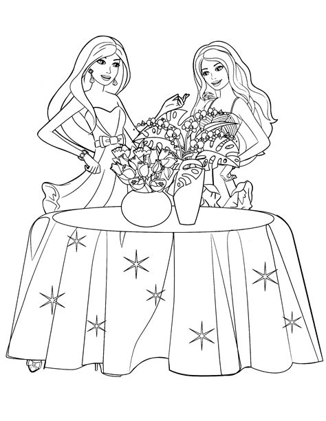 85 Barbie Coloring Pages For Girls Barbie Princess