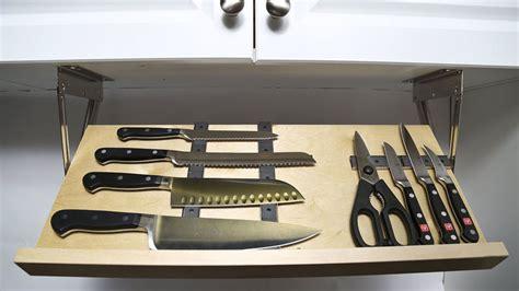 hidden magnetic knife blocks storage drawer