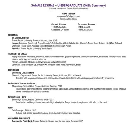 Opening Lines For Resumes by High School Resume Builder 2018 Svoboda2