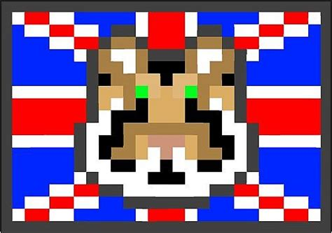 tiger  british flag pixel art minecraft blog