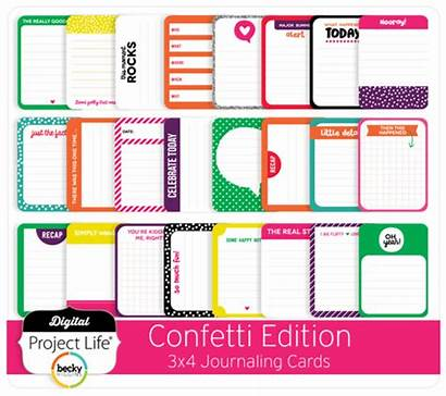 Confetti Cards Journaling 3x4 Edition Project Digital