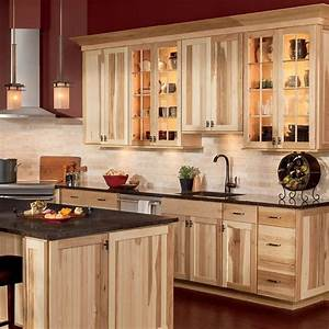 Shenandoah cottage 145 in x 145 in natural hickory for Kitchen cabinets lowes with format papiers