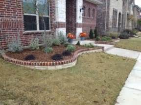 Brick and Stone Edging for Flower Beds