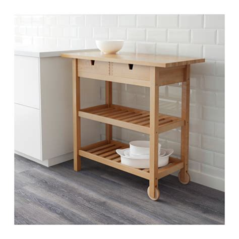f 214 rh 214 ja kitchen trolley birch 100x43 cm ikea