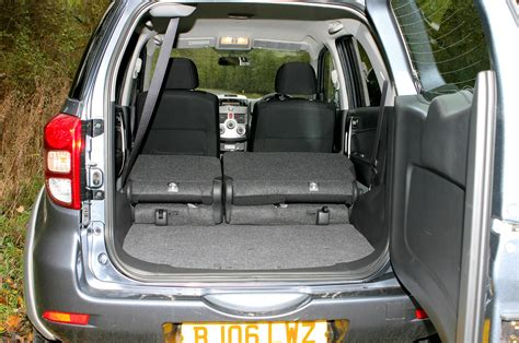 daihatsu terios trunk space daihatsu terios estate review 2006 2010 parkers