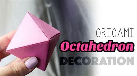 origami octahedron decoration box tutorial paper kawaii