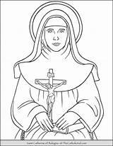 Coloring Catherine Saint Bologna Thecatholickid Catholic Patron Kid Children Feast Saints Printable Arts Liberal 9th sketch template