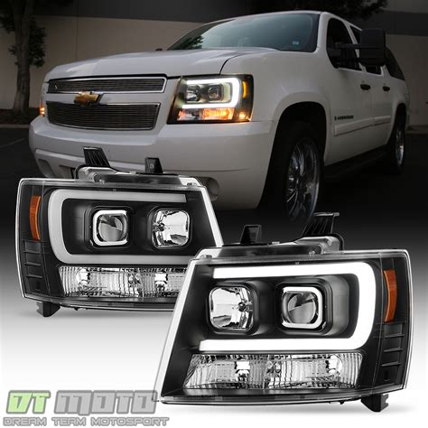 blk 2007 2014 chevy suburban tahoe avalanche optic drl led