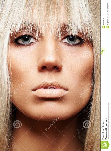 Brown Hair On Pale Skin
