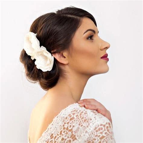 bridal hair flowers peony rose wedding flower hair piece