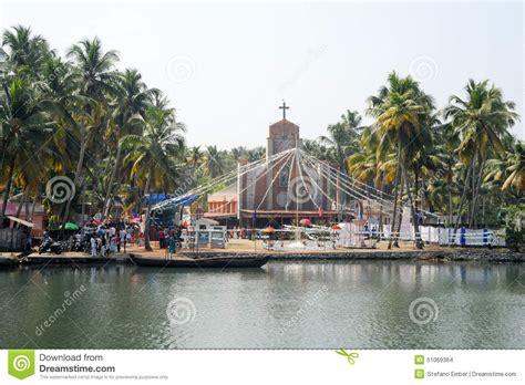 Decorated Church Near Kollam On Kerala Backwaters