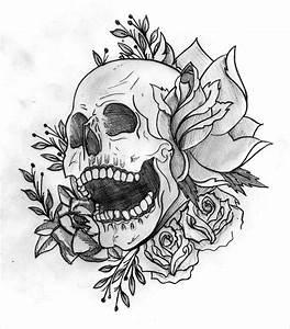 Dessin Tete De Mort Avec Rose : dessin tatouage t te de mort yg6re3zs tattoo dessin tatouage dessin tete de mort et ~ Melissatoandfro.com Idées de Décoration