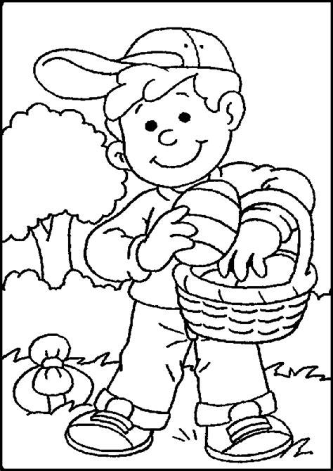 panier basket chambre coloriage paques enfants à colorier allofamille