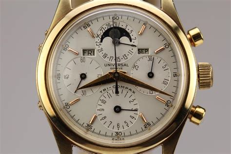 Universal Geneve Tri Compax Watch For Sale Mens