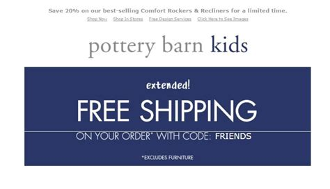 Up To 75 Off Pottery Barn Kids Coupons Promo Code 2017