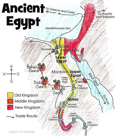 map  ancient egypt geography ancient egypt lessons