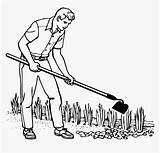 Pngitem Gardening Drawing Gardener Hoe sketch template