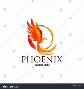 Phoenix Logo Template Firebird Eagle Logo Stock Vector ...