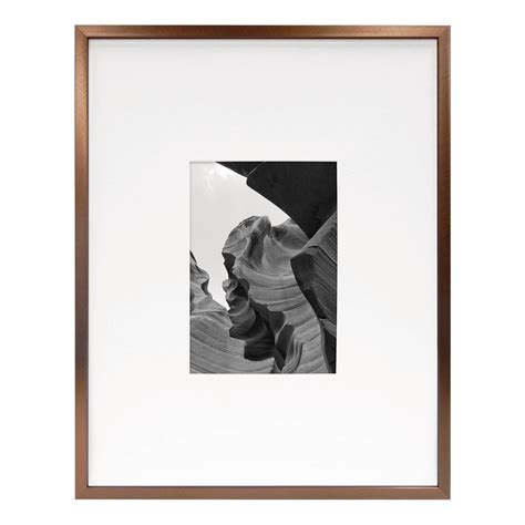 frame matted to 11x14 metal frame brushed silver 11x14 matted for 5x7 photo