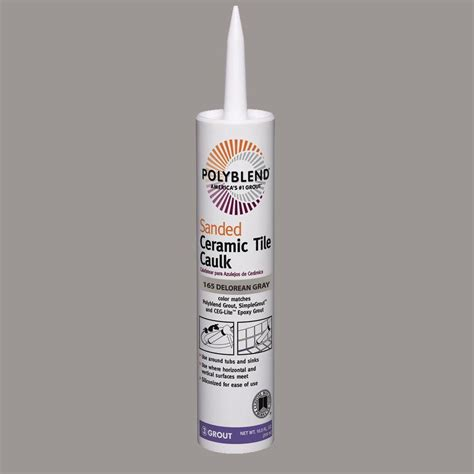 polyblend sanded ceramic tile caulk oyster gray custom building products polyblend 165 delorean gray 10 5